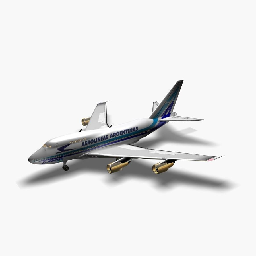 Aircraft Boeing 747 SP Jumbo Jet royalty-free 3d model - Preview no. 1