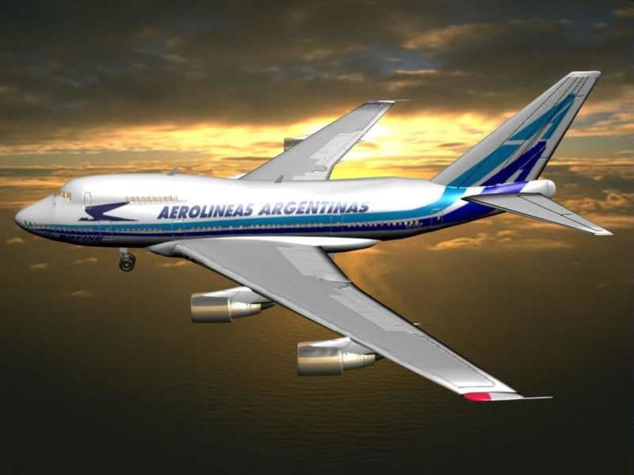 Aircraft Boeing 747 SP Jumbo Jet royalty-free 3d model - Preview no. 9