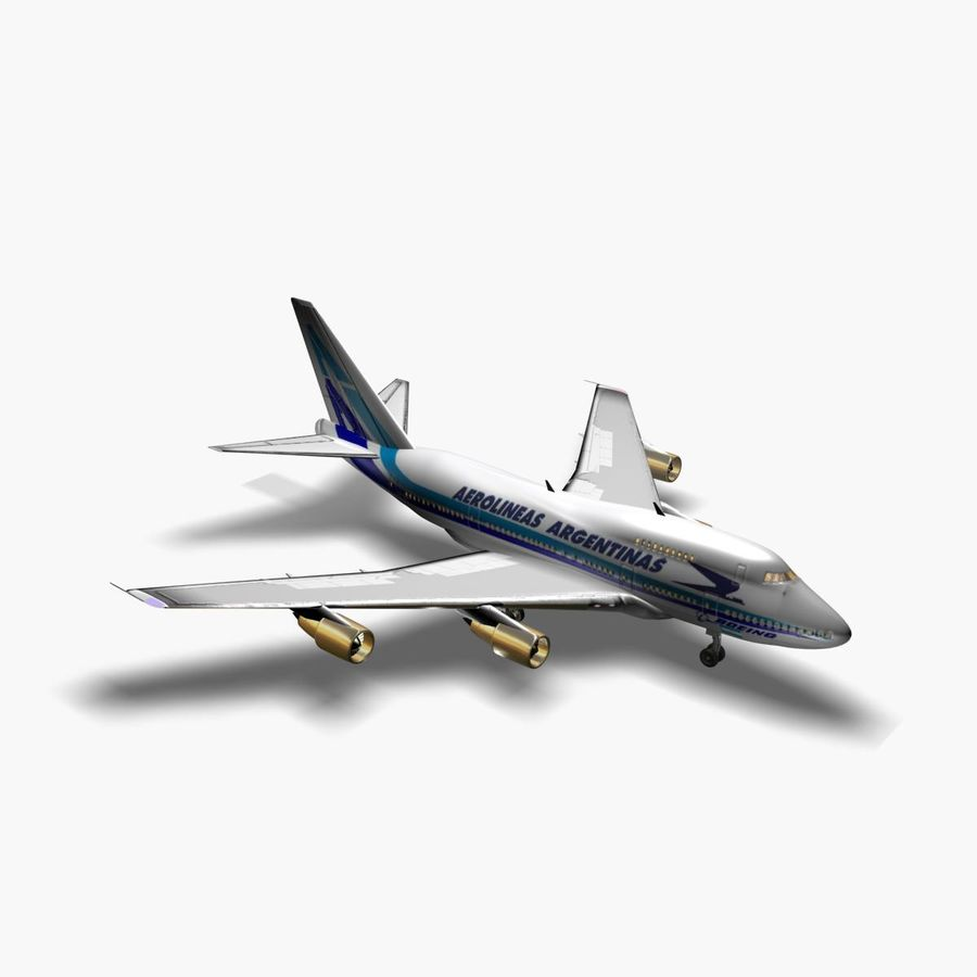 Aircraft Boeing 747 SP Jumbo Jet royalty-free 3d model - Preview no. 4