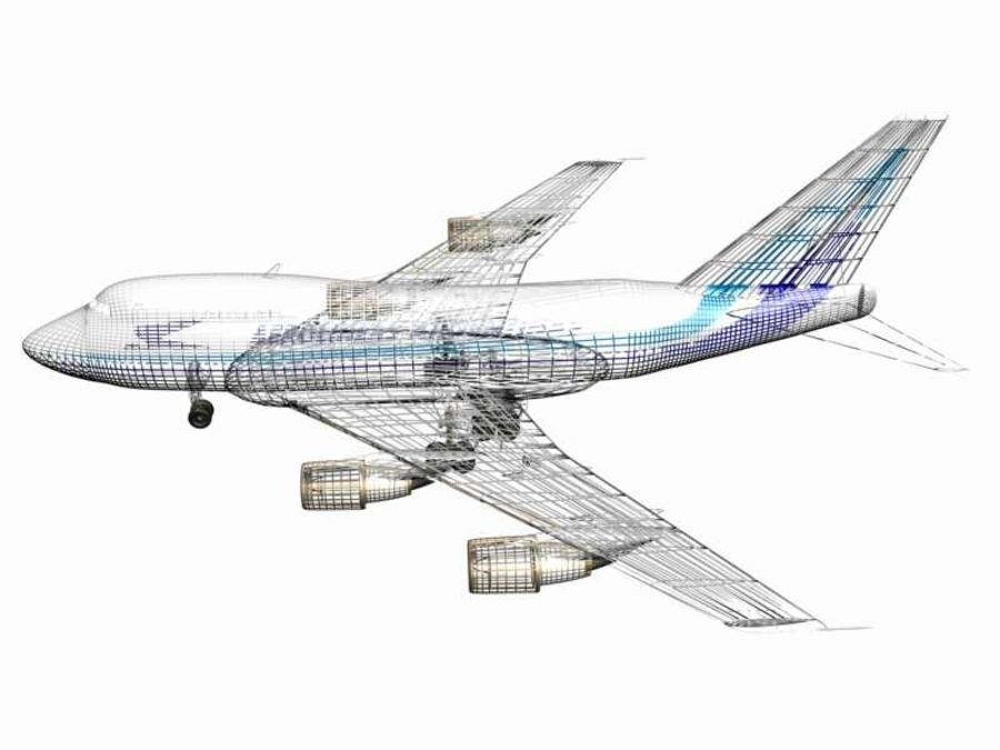 Aircraft Boeing 747 SP Jumbo Jet royalty-free 3d model - Preview no. 10