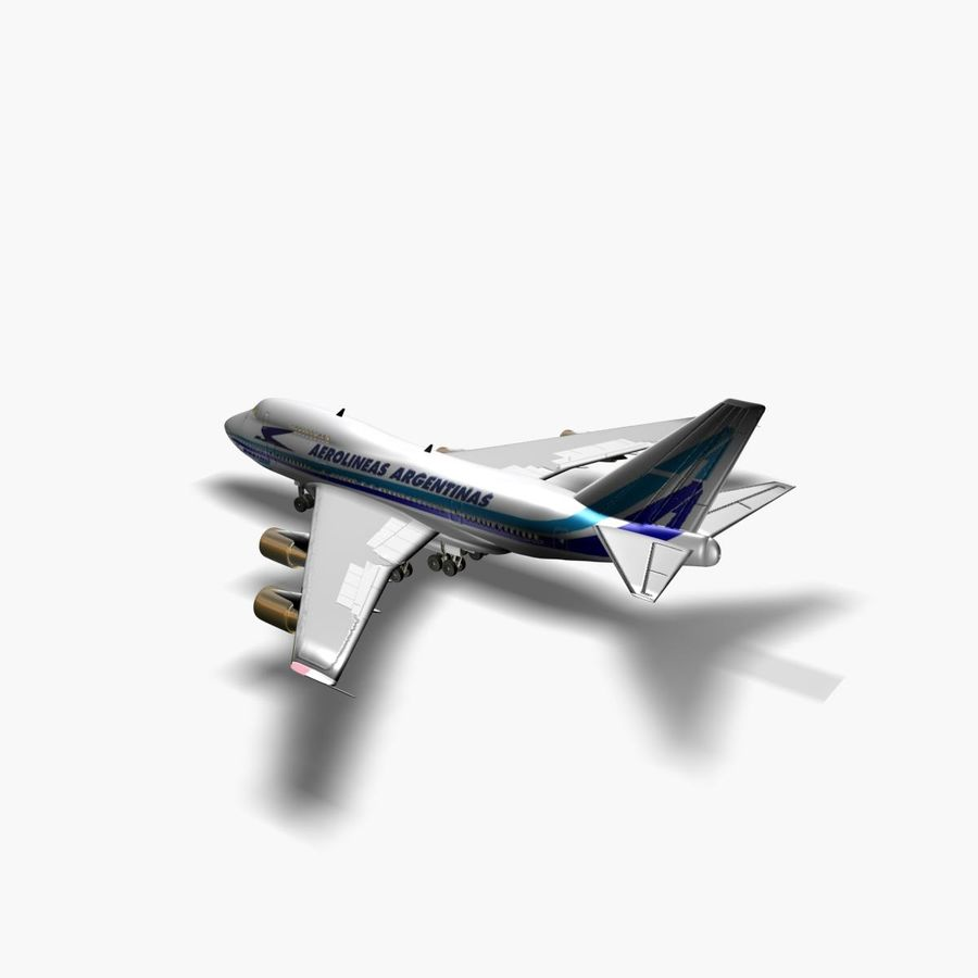 Aircraft Boeing 747 SP Jumbo Jet royalty-free 3d model - Preview no. 2