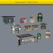 Newspaper Stand Pack 3d model
