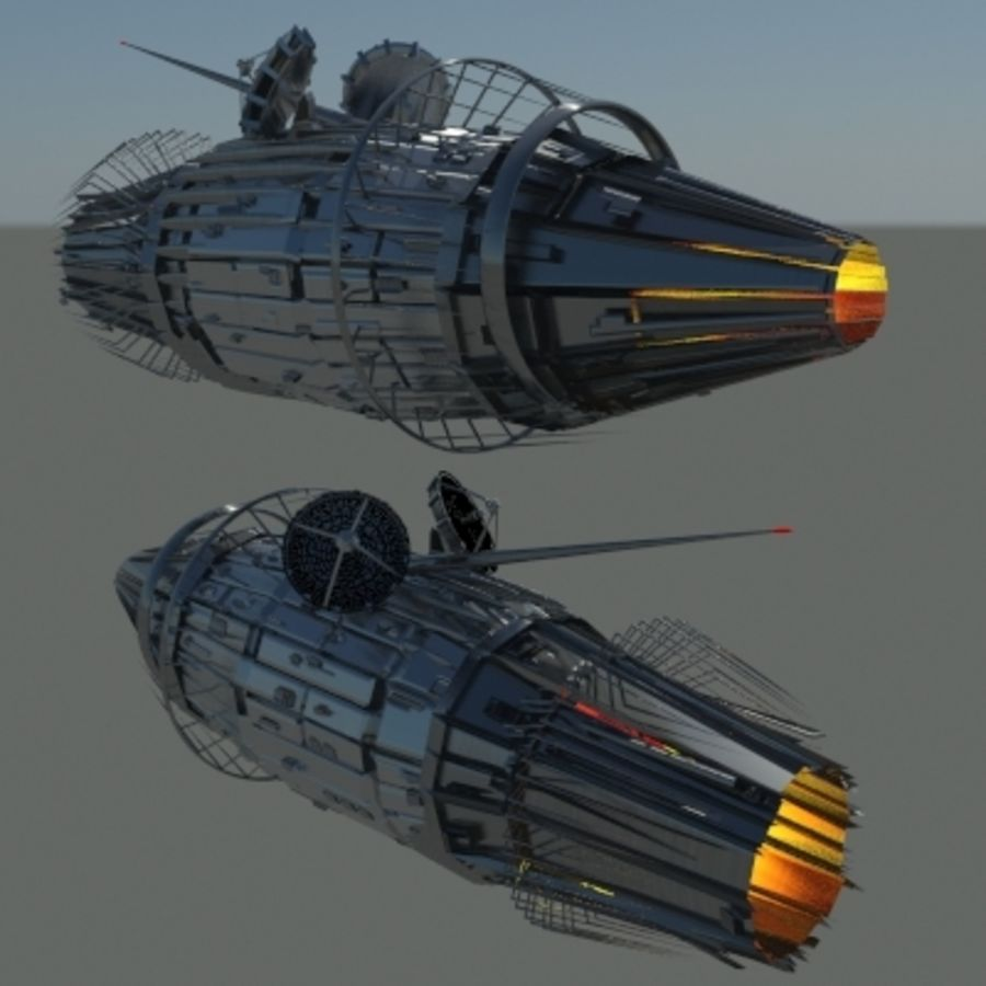 Space Probe 001.zip royalty-free 3d model - Preview no. 1