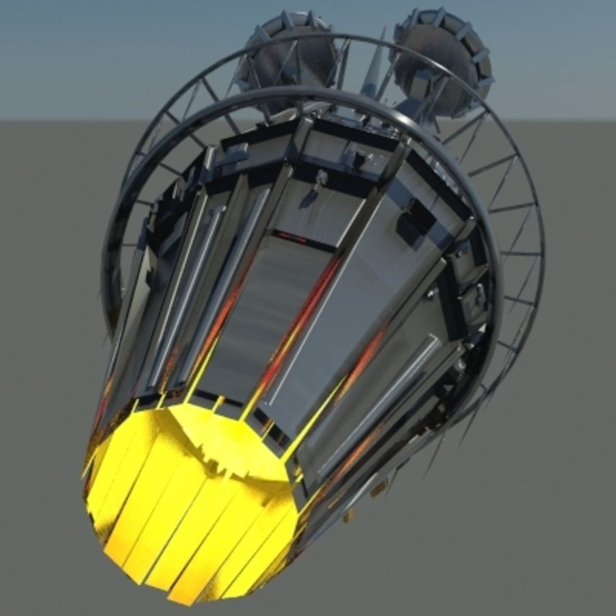 Space Probe 001.zip royalty-free 3d model - Preview no. 3