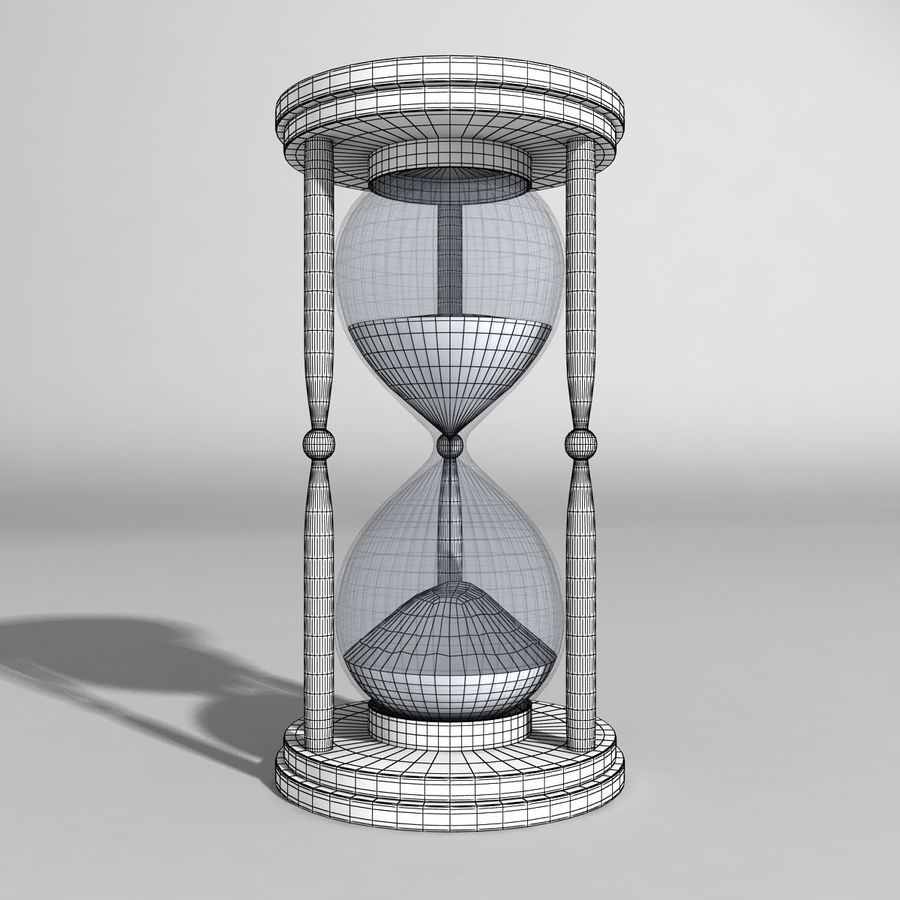 Hourglass royalty-free 3d model - Preview no. 6
