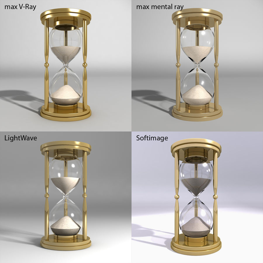 Hourglass royalty-free 3d model - Preview no. 3