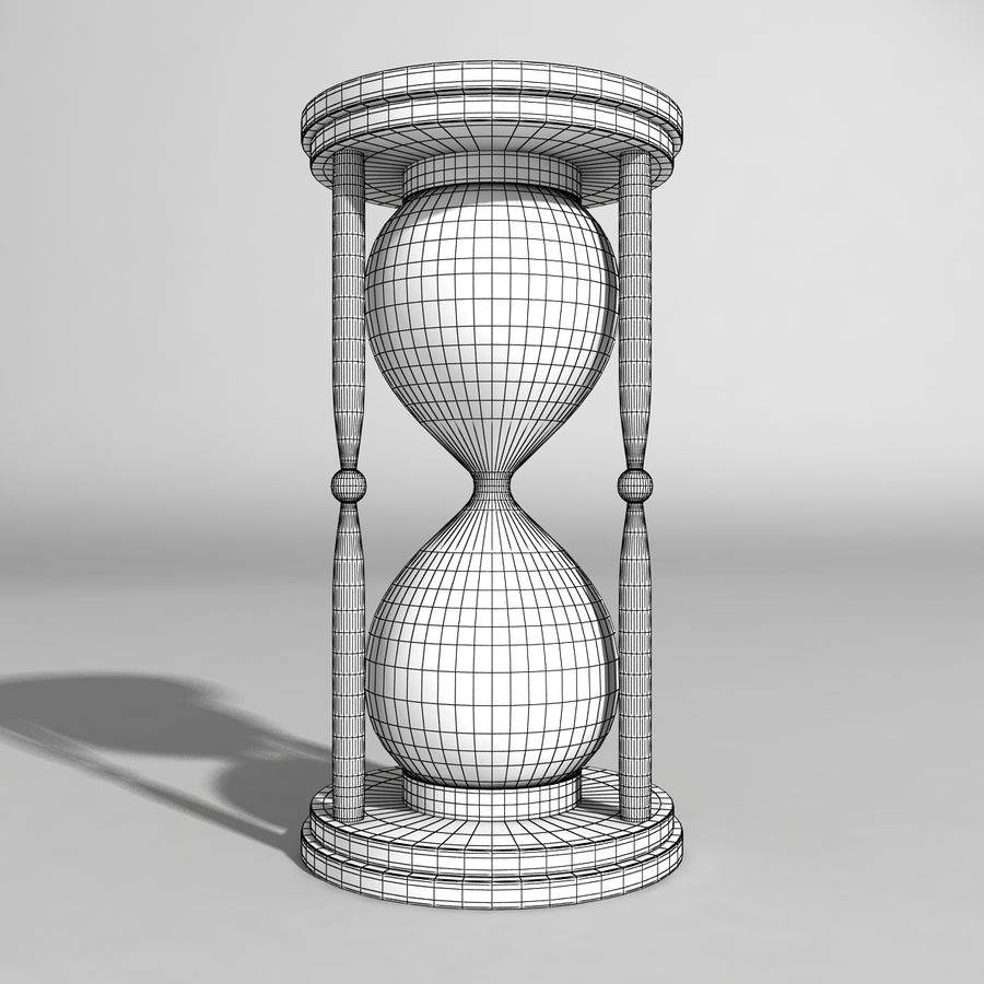 Hourglass royalty-free 3d model - Preview no. 5