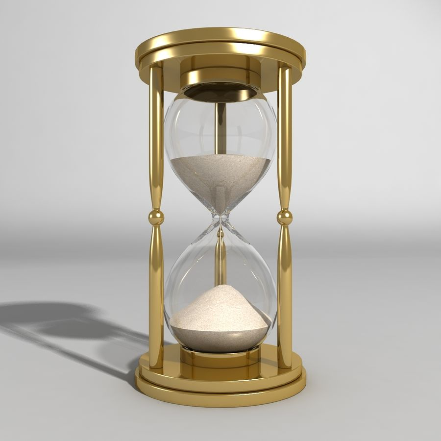Hourglass royalty-free 3d model - Preview no. 2