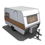 Old Caravan 3d model