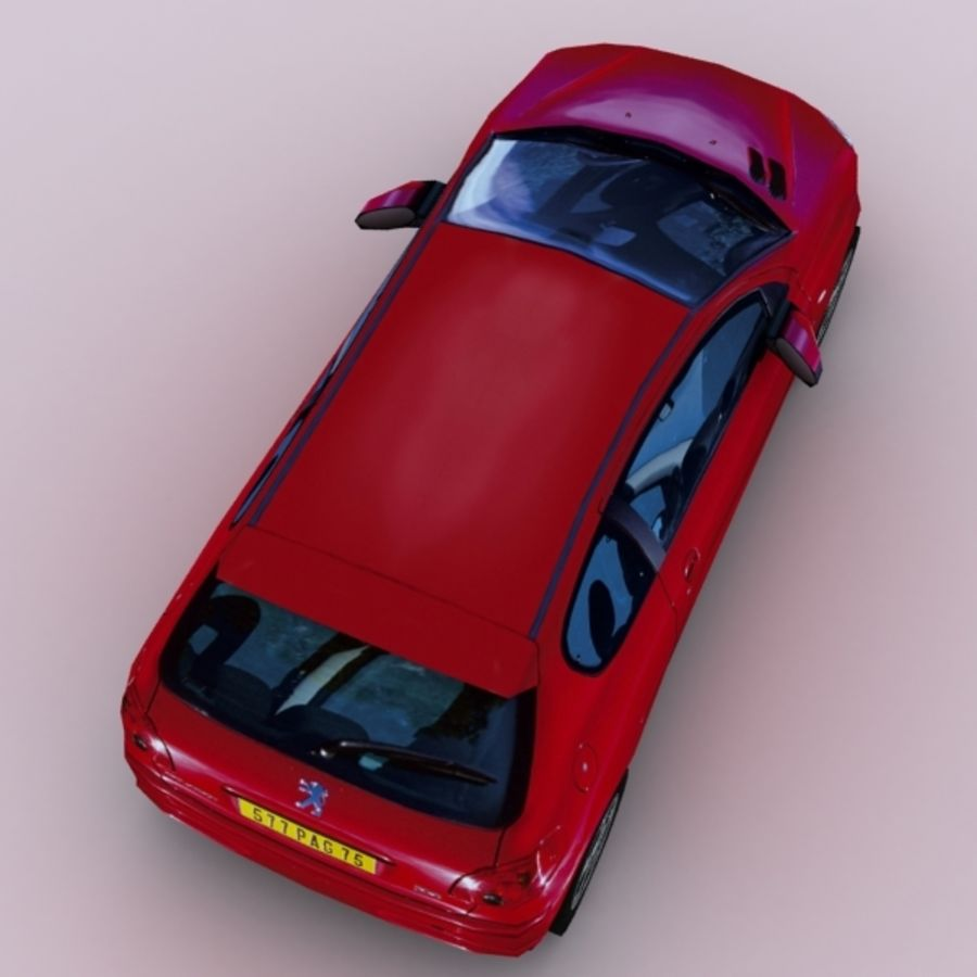 2003 Peugeot 206 royalty-free 3d model - Preview no. 2