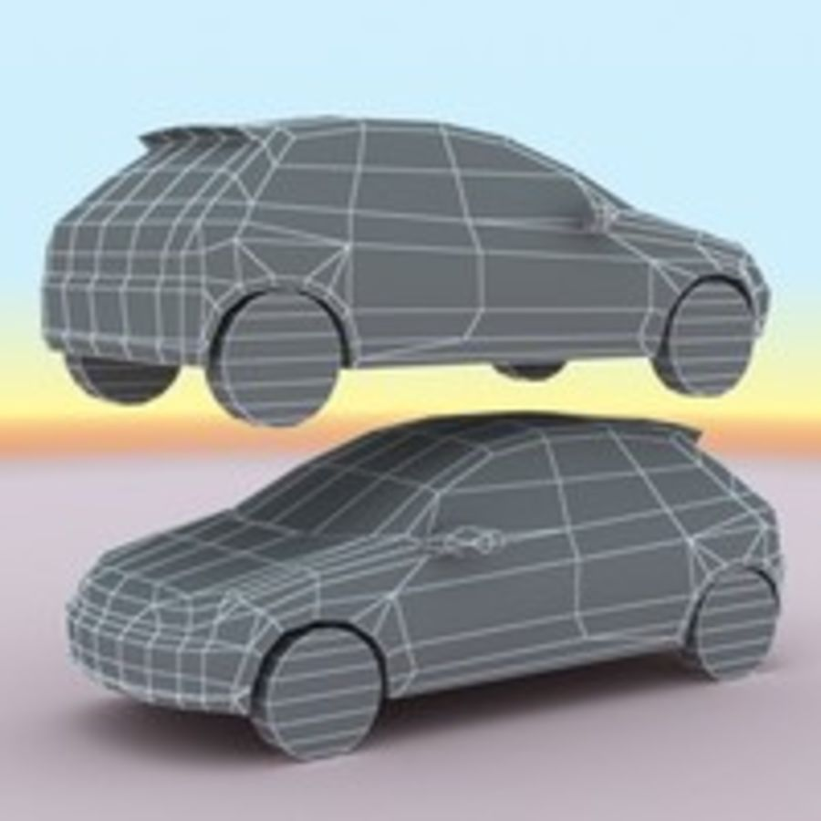 2003 Peugeot 206 royalty-free 3d model - Preview no. 8