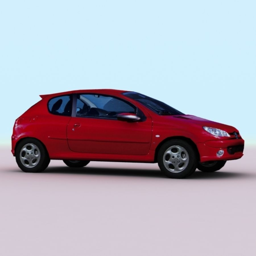 2003 Peugeot 206 royalty-free 3d model - Preview no. 4