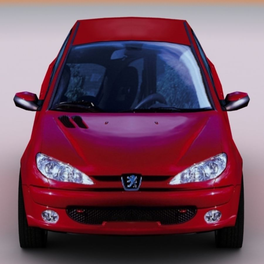 2003 Peugeot 206 royalty-free 3d model - Preview no. 5