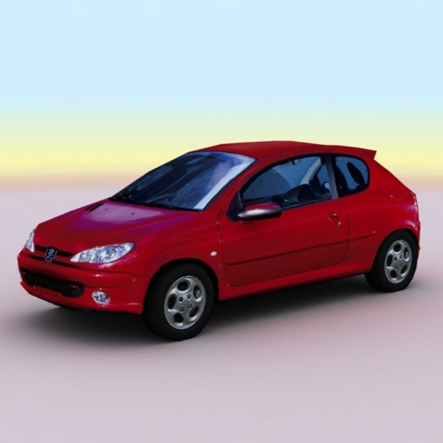 2003 Peugeot 206 royalty-free 3d model - Preview no. 1