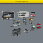 Food Stand Pack 3d model