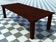 Table Old 1 - Modèle de table en bois ancien 3D - Comprend le bois foncé_1 Matériau - Fabriqué en 3ds max2010 3d model
