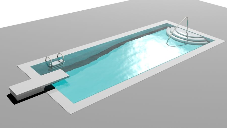Piscina moderna royalty-free modelo 3d - Preview no. 3
