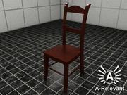 Chair 1 Wood - chair model - 3ds max 2010 3d model