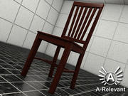 Chair 2 Wood - chair model - 3ds max 2010 3d model