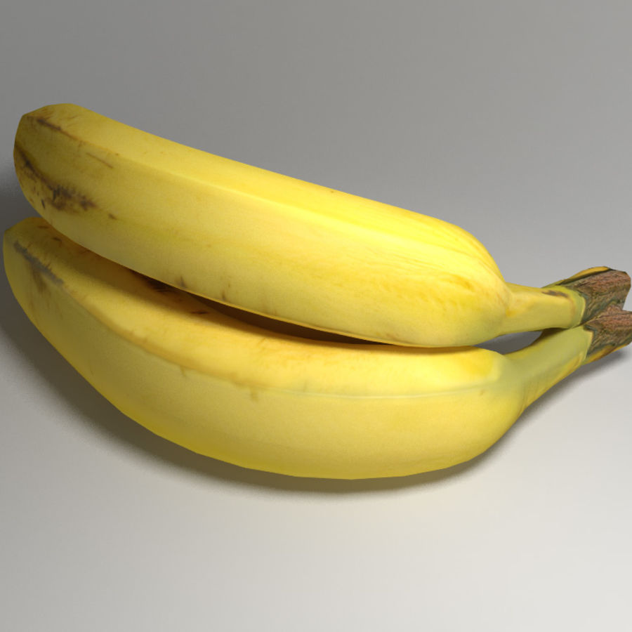 Yellow Bananas royalty-free 3d model - Preview no. 3