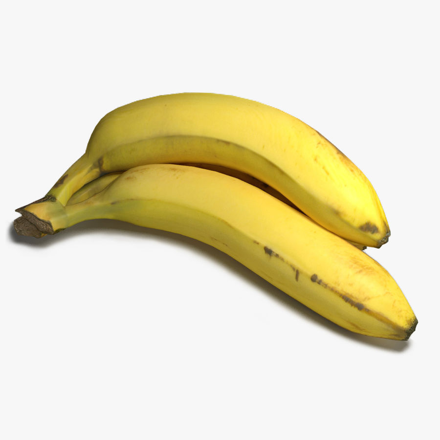 Yellow Bananas royalty-free 3d model - Preview no. 1