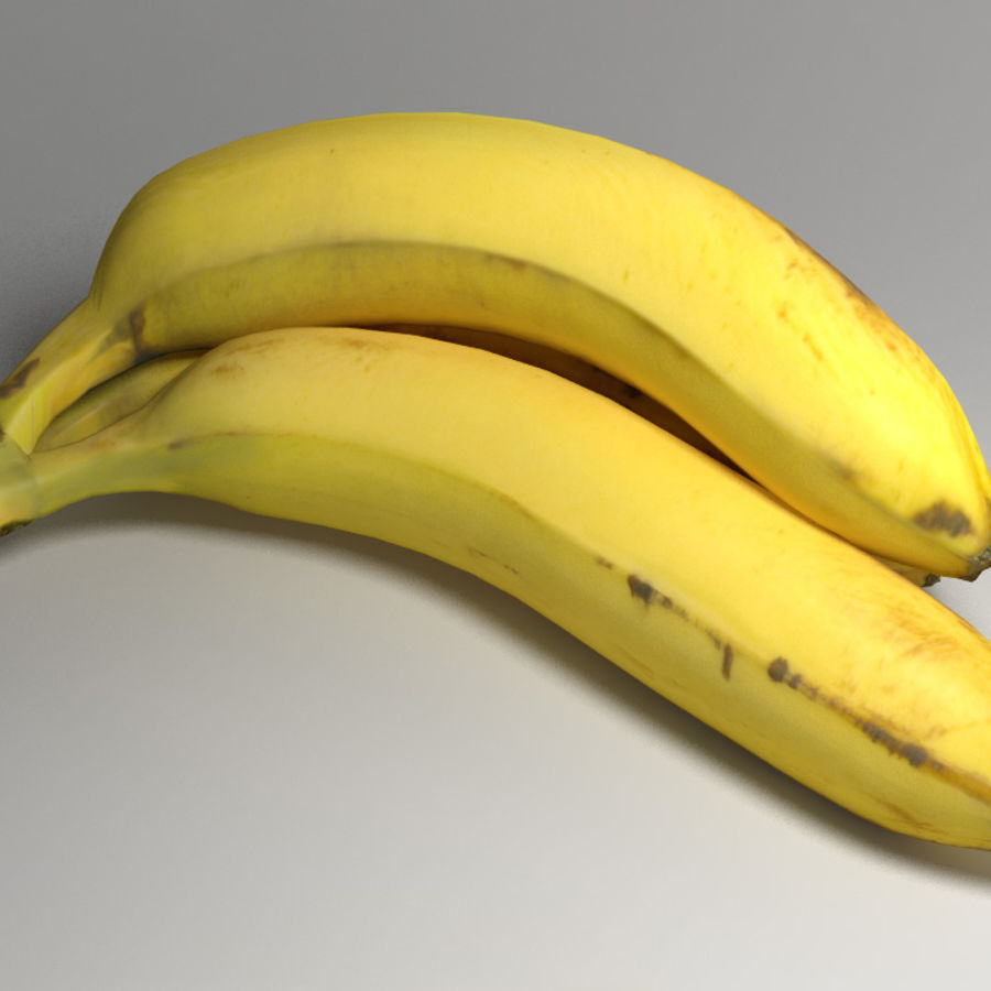 Yellow Bananas royalty-free 3d model - Preview no. 2