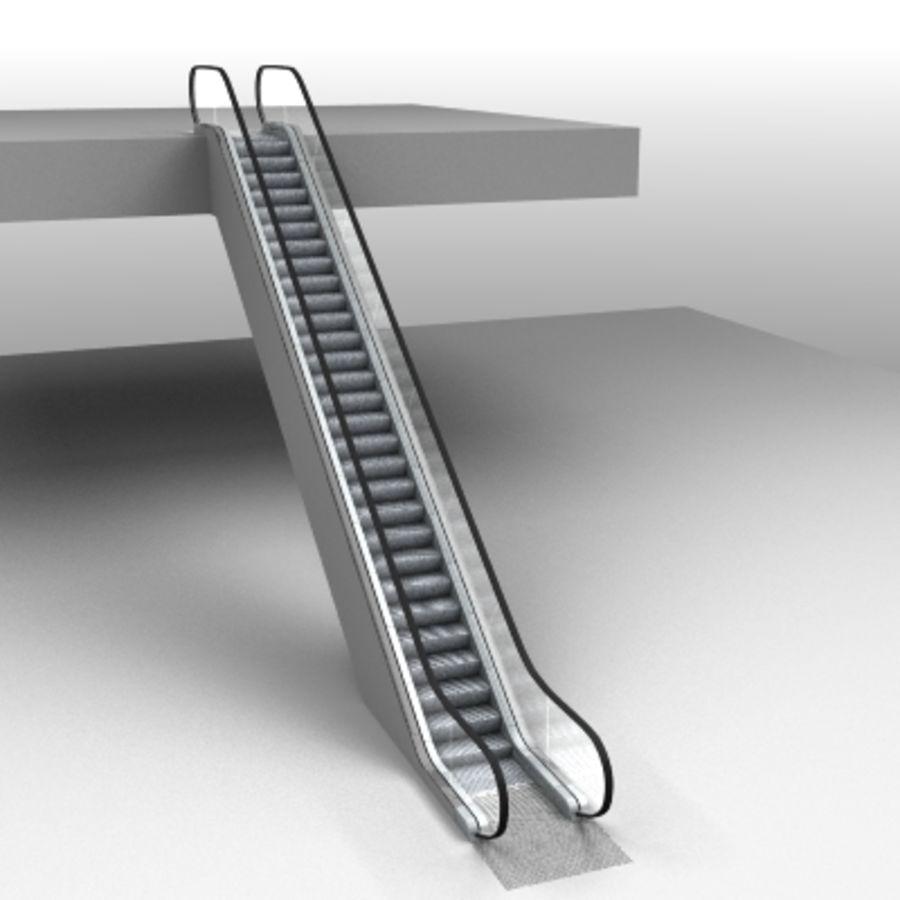 Detailed Escalator 3D Model $15 -  lwo - Free3D