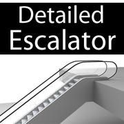 Detailed Escalator 3d model