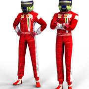 Red Driver - Racing pilote 3d model