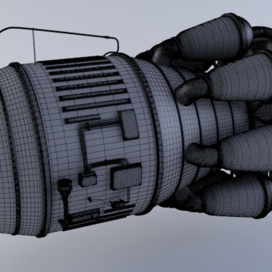 Jet Engine Turbine MK2 royalty-free 3d model - Preview no. 5