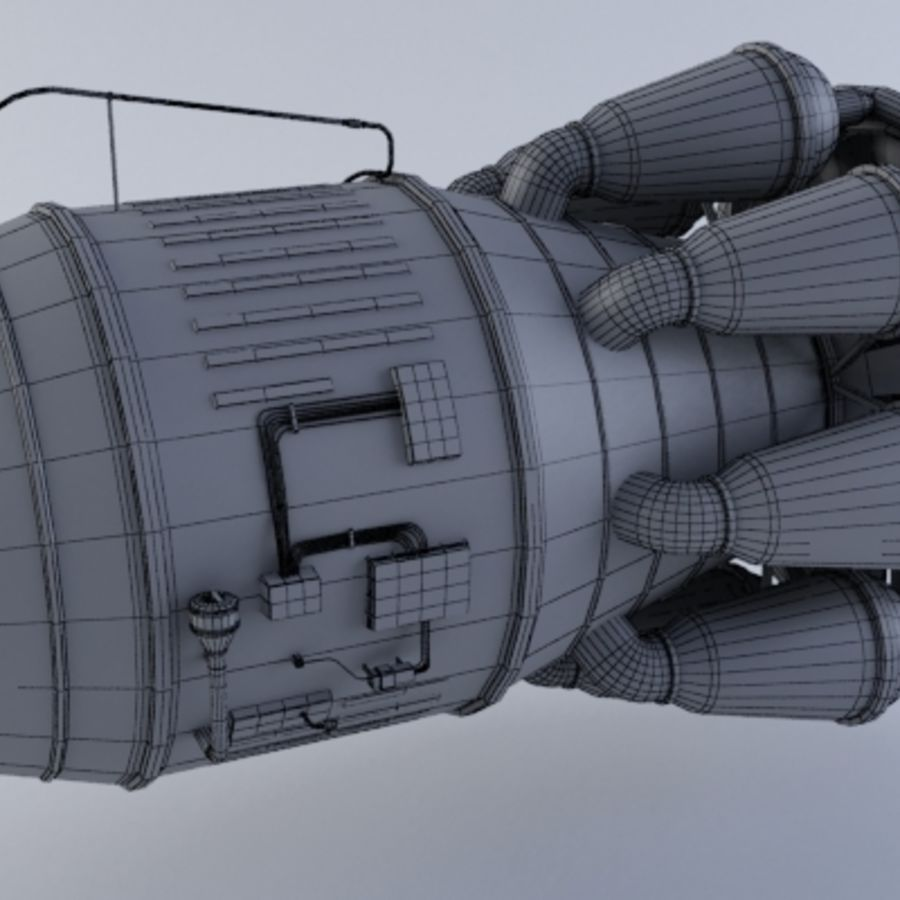 Jet Engine Turbine MK2 royalty-free 3d model - Preview no. 6