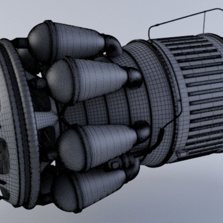 Jet Engine Turbine MK2 royalty-free 3d model - Preview no. 3