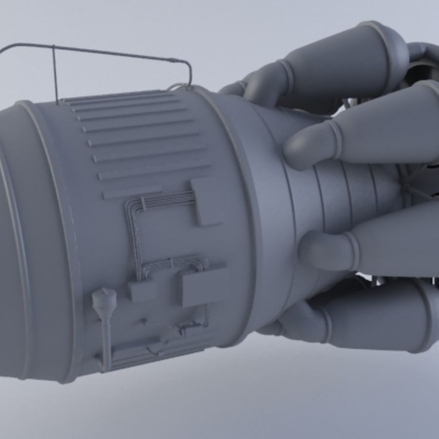 Jet Engine Turbine MK2 royalty-free 3d model - Preview no. 4