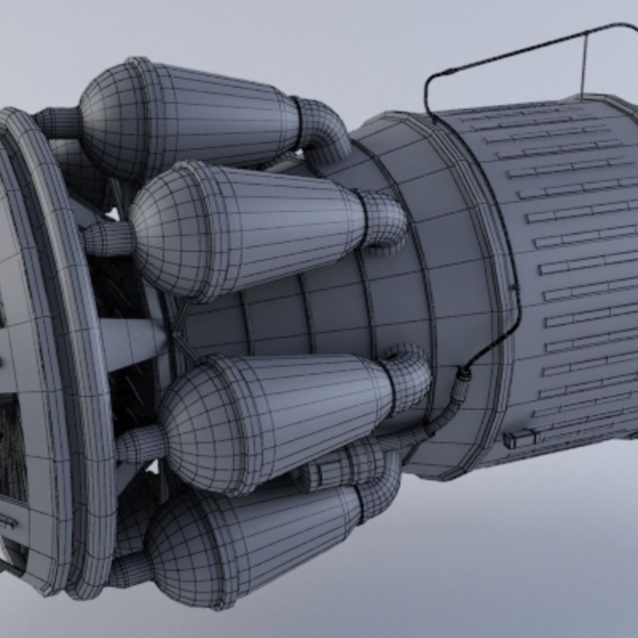 Jet Engine Turbine MK2 royalty-free 3d model - Preview no. 7