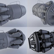 Jet Engine Turbine MK2 3d model
