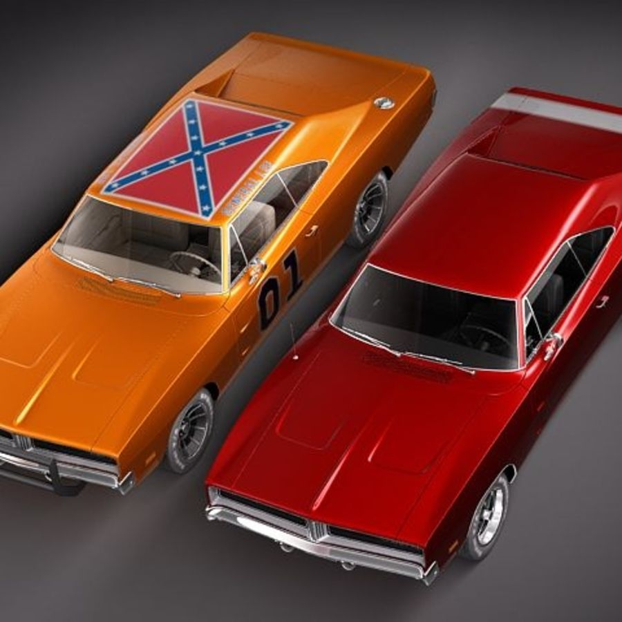 Dodge Charger 1969 RT - General Lee royalty-free 3d model - Preview no. 14