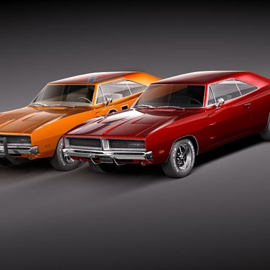 Dodge Charger 1969 RT - General Lee royalty-free 3d model - Preview no. 1