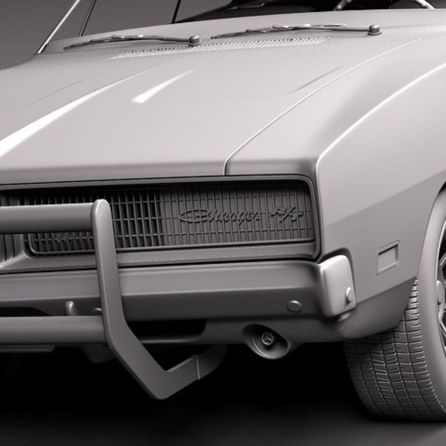 Dodge Charger 1969 RT - General Lee royalty-free 3d model - Preview no. 12