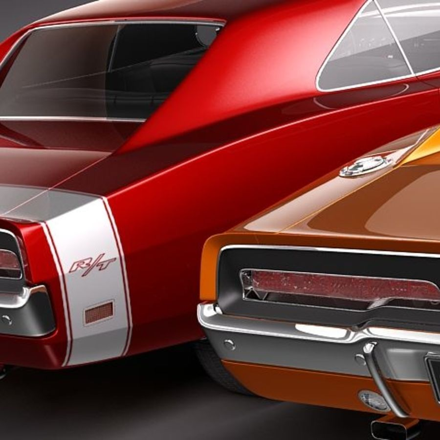 Dodge Charger 1969 RT - General Lee royalty-free 3d model - Preview no. 7