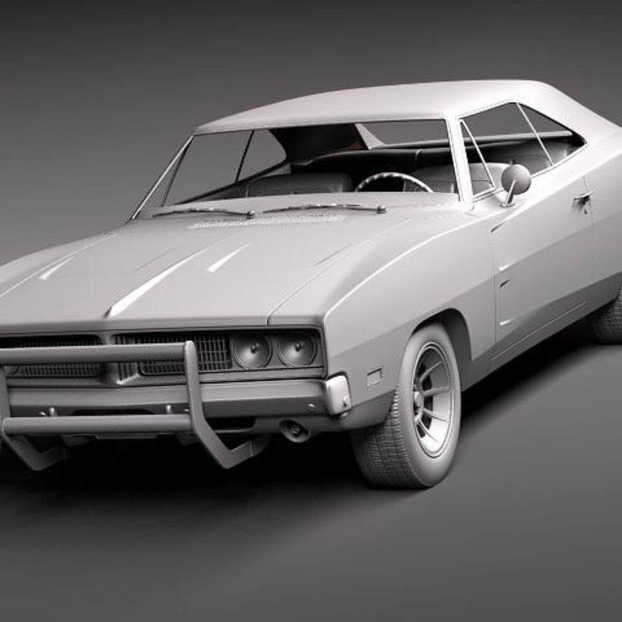 Dodge Charger 1969 RT - General Lee royalty-free 3d model - Preview no. 13