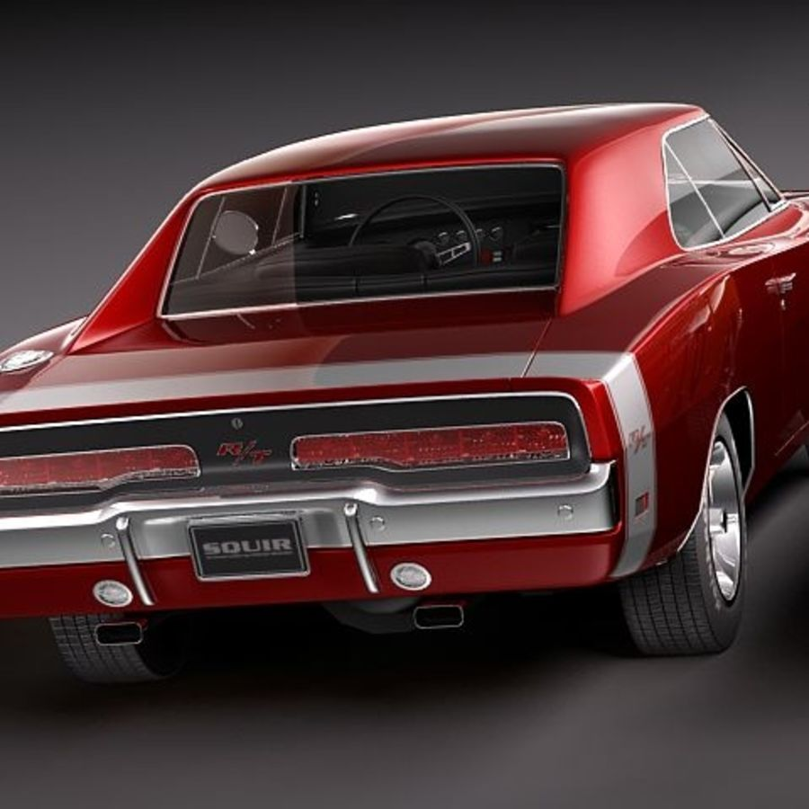 Dodge Charger 1969 RT - General Lee royalty-free 3d model - Preview no. 8