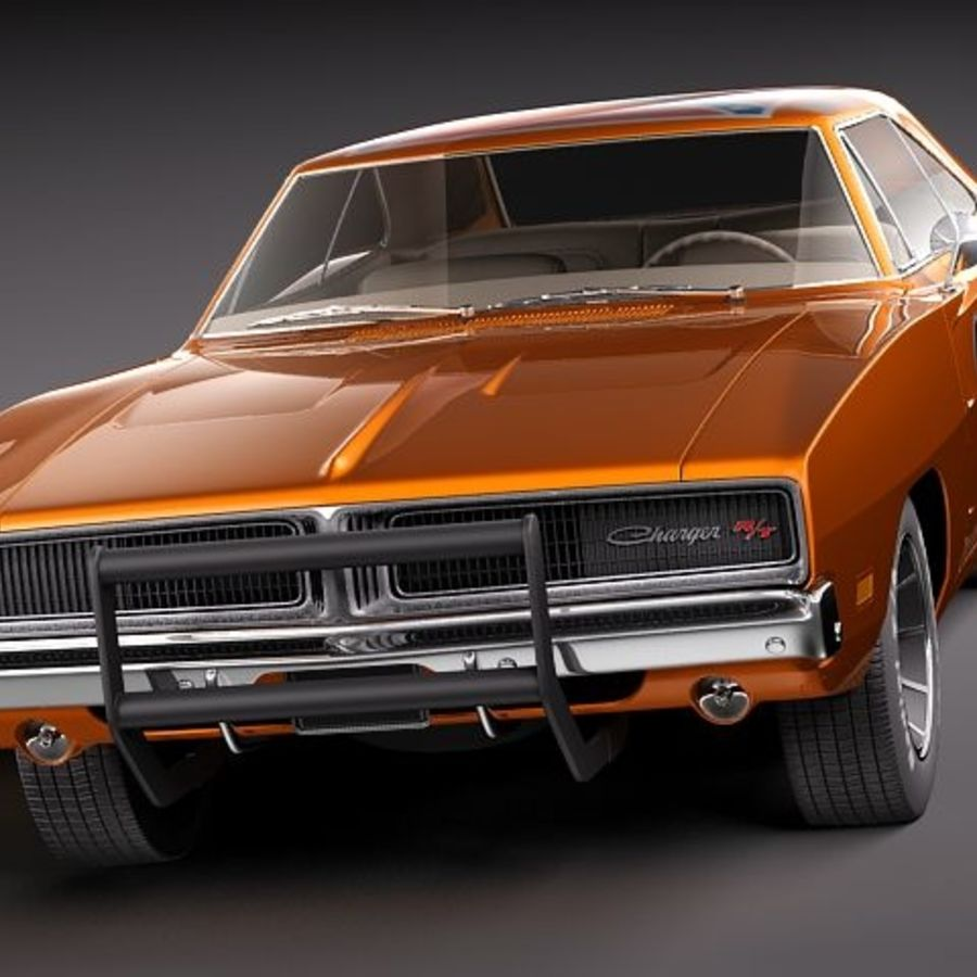 Dodge Charger 1969 RT - General Lee royalty-free 3d model - Preview no. 4