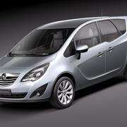 欧宝Meriva 2011 3d model