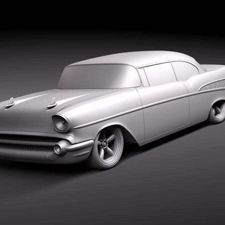 Chevrolet Belair 1957 Custom Lowrider 3d Model 129 Max Xsi Obj Chevy Bel Air Convertible Royalty Free Preview No 12
