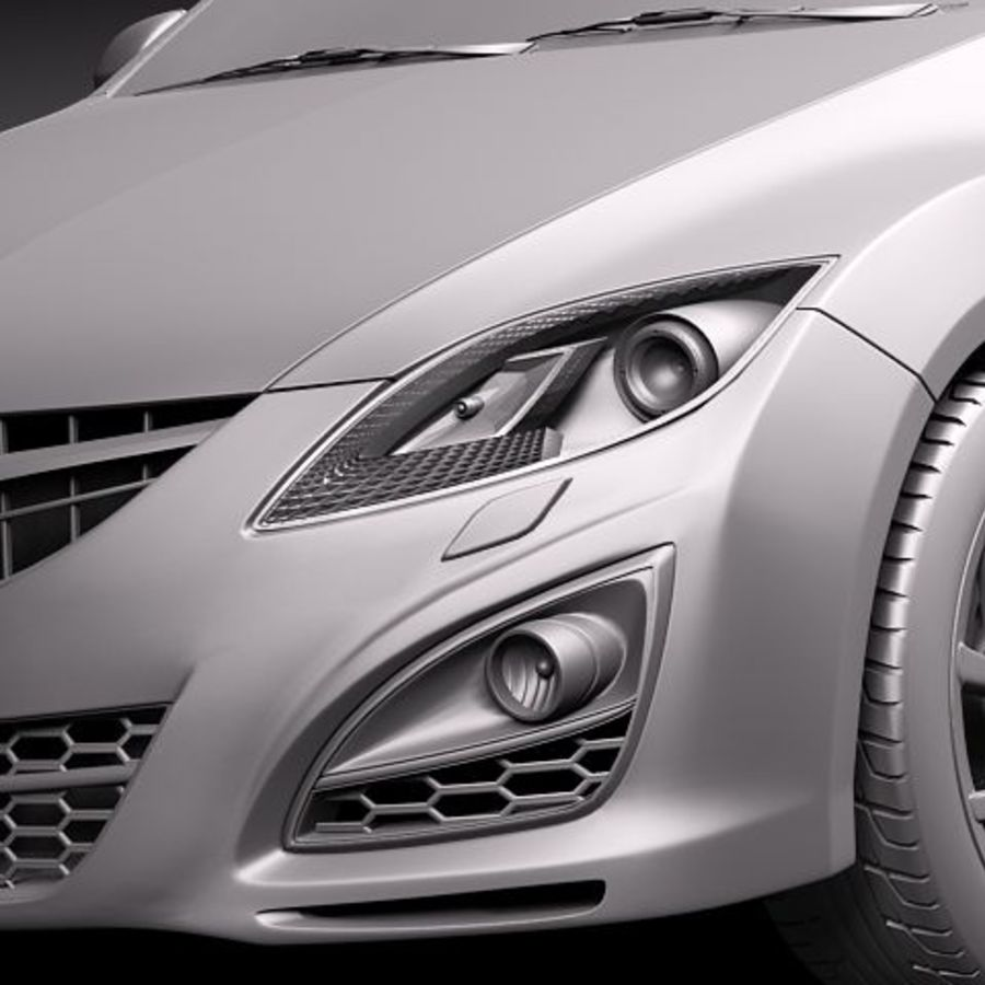 Mazda 6 Limousine 2011 royalty-free 3d model - Preview no. 10