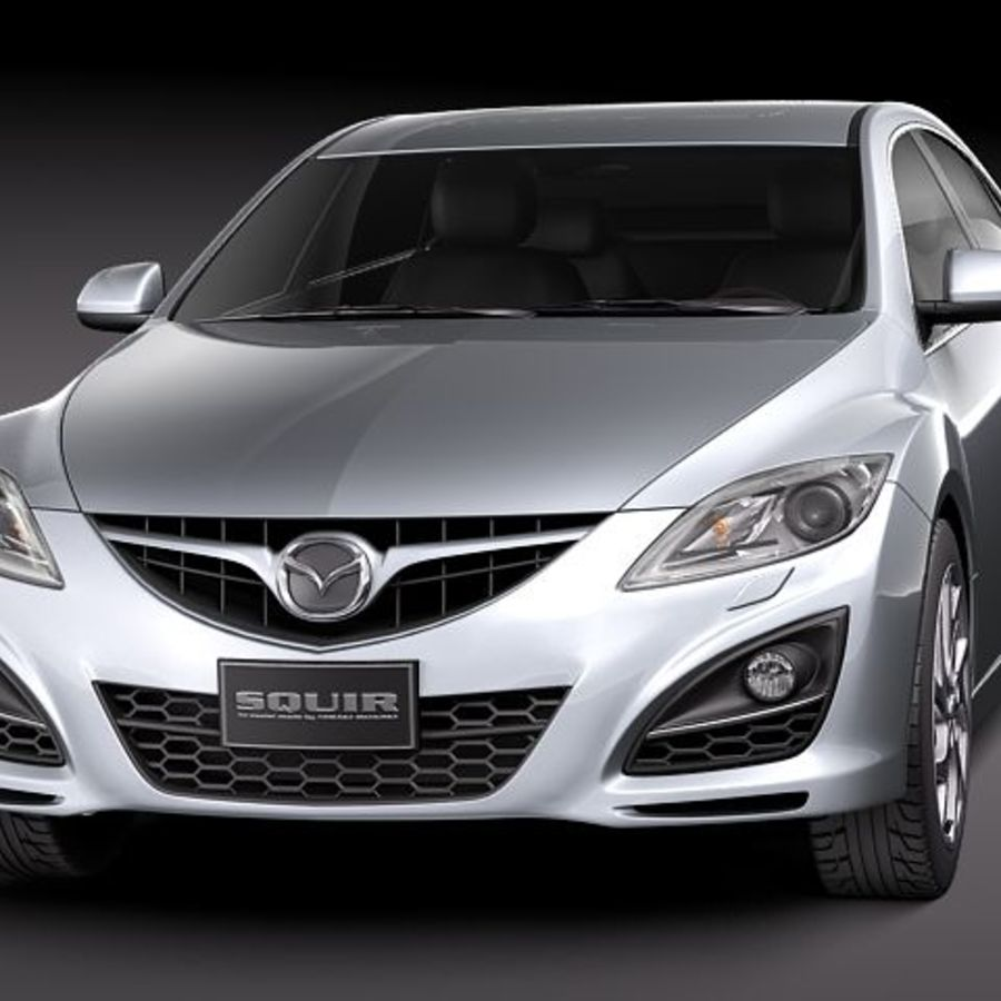 Mazda 6 Limousine 2011 royalty-free 3d model - Preview no. 2