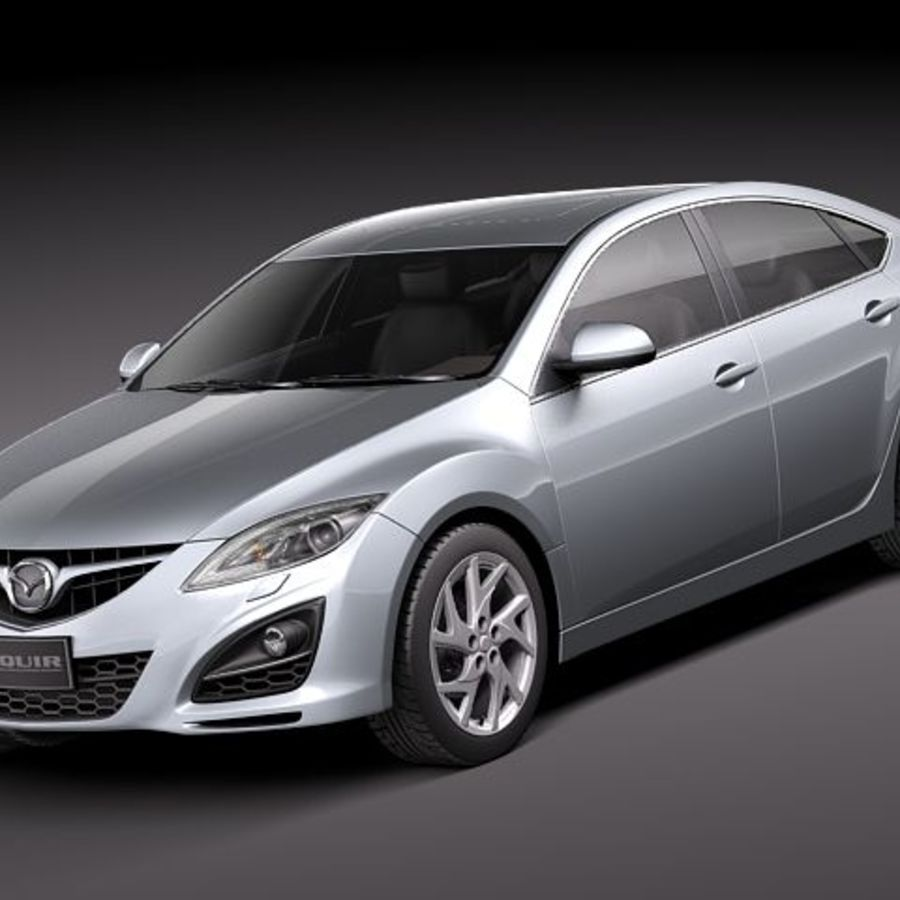 Mazda 6 Limousine 2011 royalty-free 3d model - Preview no. 1
