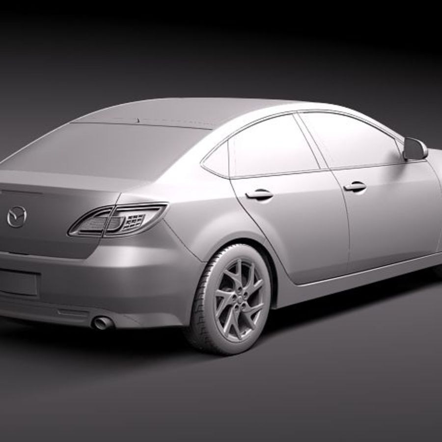 Mazda 6 Limousine 2011 royalty-free 3d model - Preview no. 12