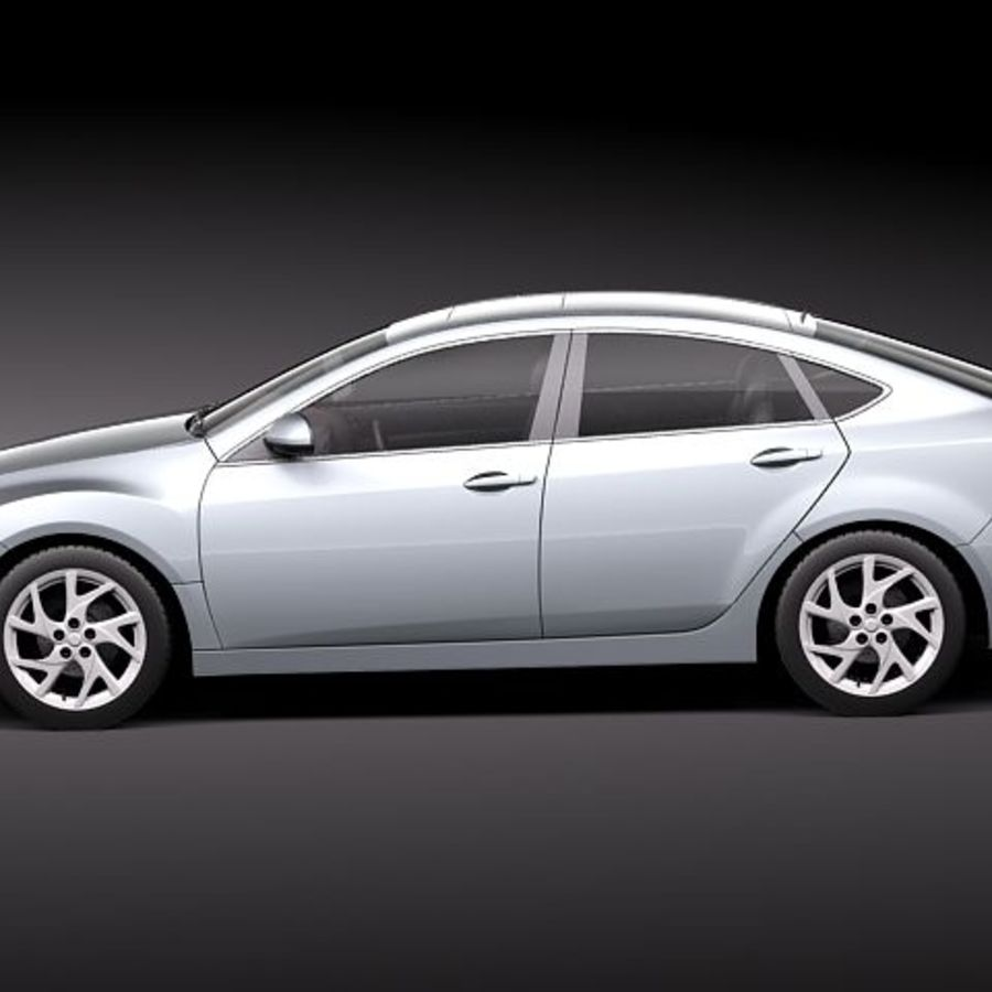 Mazda 6 Limousine 2011 royalty-free 3d model - Preview no. 7
