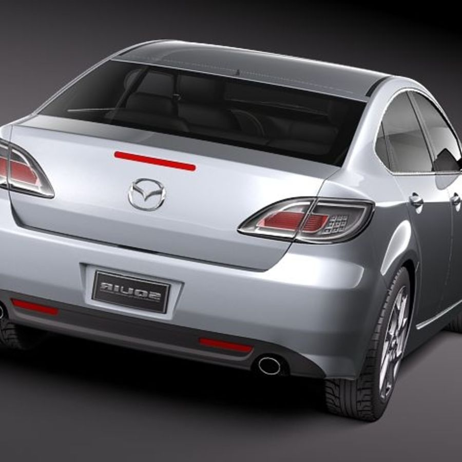 Mazda 6 Limousine 2011 royalty-free 3d model - Preview no. 6